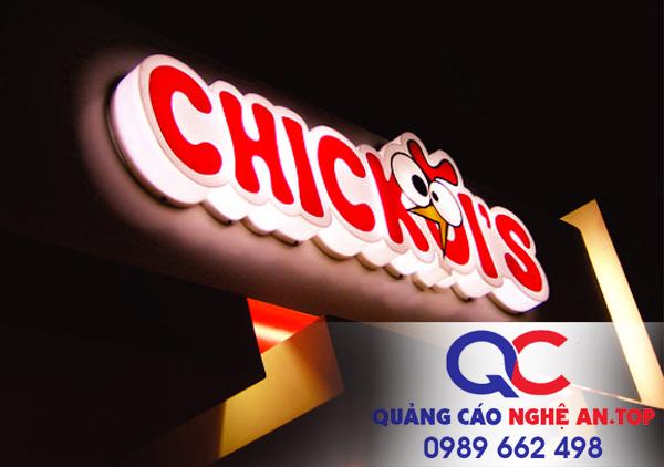 Biển chữ nổi led mika tại Nghệ An